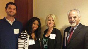 Joel Kownacki, Erin Jones and Lori Graham of Walters Management thank instructor Rick Salpietra, Esq., at the recent seminar.